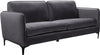 Poppy Black Velvet Sofa