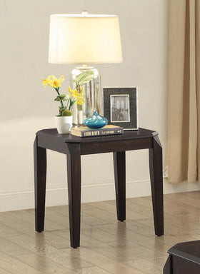 Transitional Walnut End Table