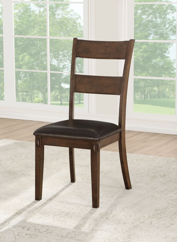 Nabirye PU & Dark Oak Side Chair image