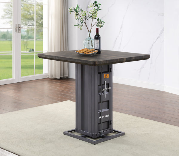 Cargo Antique Walnut & Gunmetal Counter Height Table image