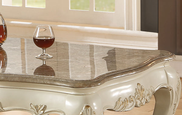 Chantelle Marble & Pearl White Coffee Table image