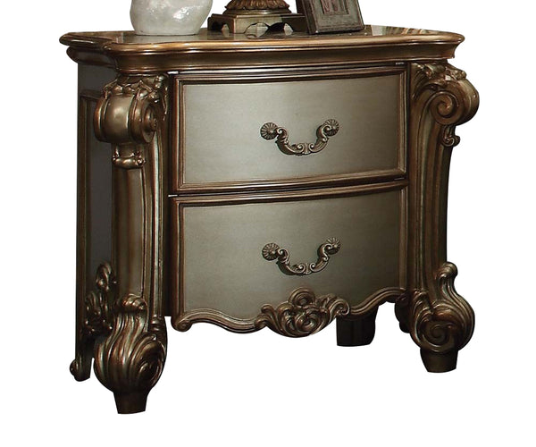 Acme Vendome Nightstand in Gold Patina 23003 image