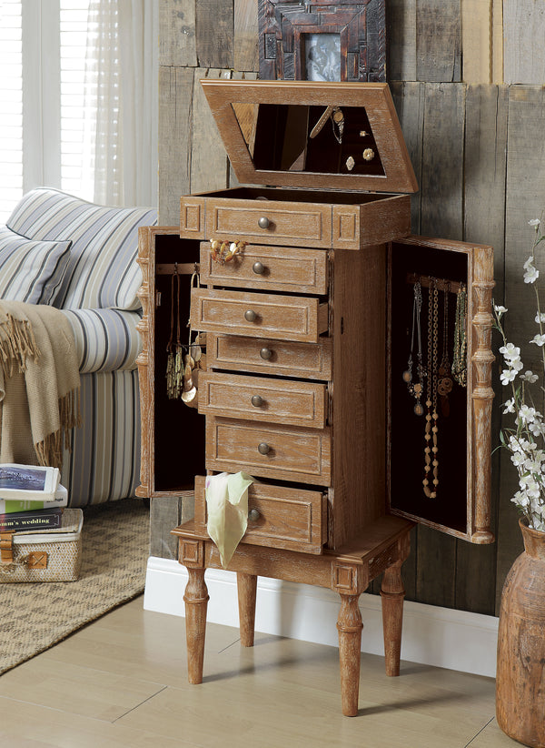 Taline Weathered Oak Jewelry Armoire image