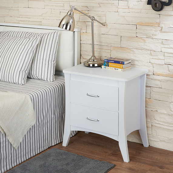 Babb White Accent Table image