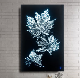 Hadrias Smoky Glass & Faux Crystal Wall Art (LED)