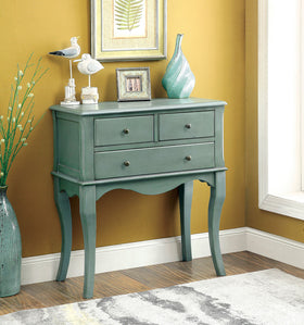 SIAN Antique Teal Hallway Cabinet