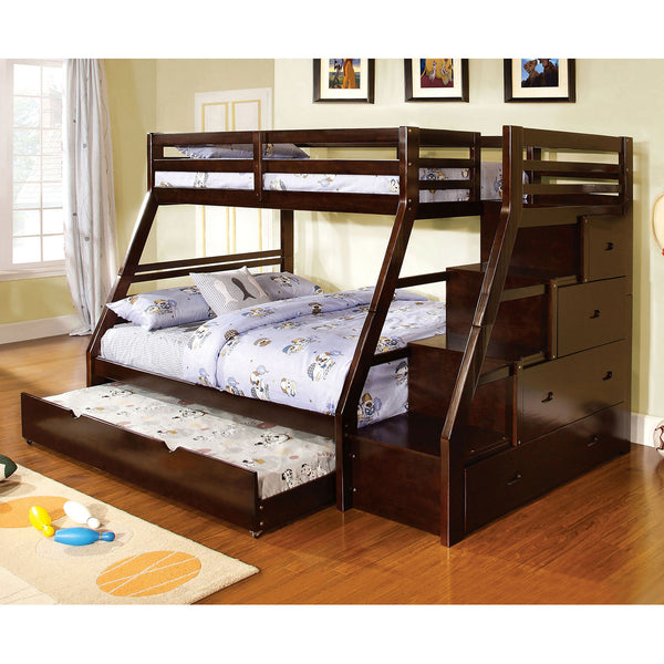 Ellington Dark Walnut Twin/Full Bunk Bed image