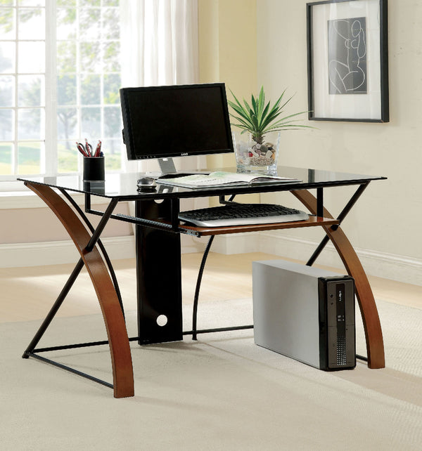 Baden Oak/Black Accent Desk image