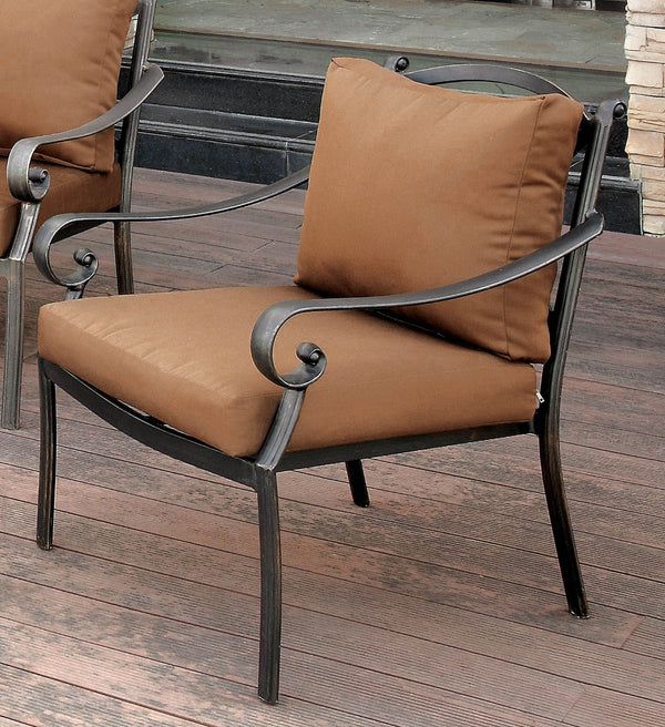 BONQUESHA I Brown/Distressed Black Arm Chair image