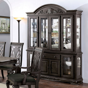Petersburg Dark Gray Hutch & Buffet
