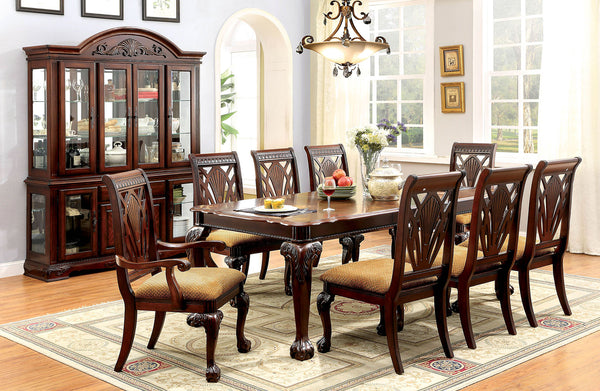 PETERSBURG I Cherry 9 Pc. Dining Table Set (2AC+6SC) image