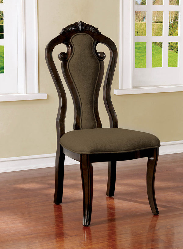 Rosalina Walnut/Beige Side Chair (2/CTN) image