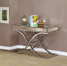 SUNDANCE Chrome Sofa Table, Chrome