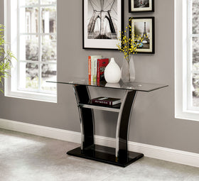 Staten Glossy Black/Chrome Sofa Table