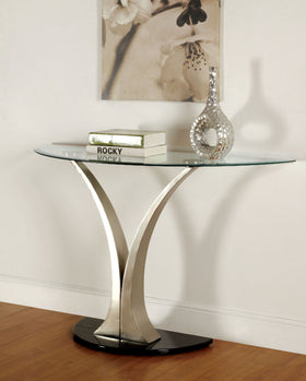 VALO Satin Plated/Black Sofa Table