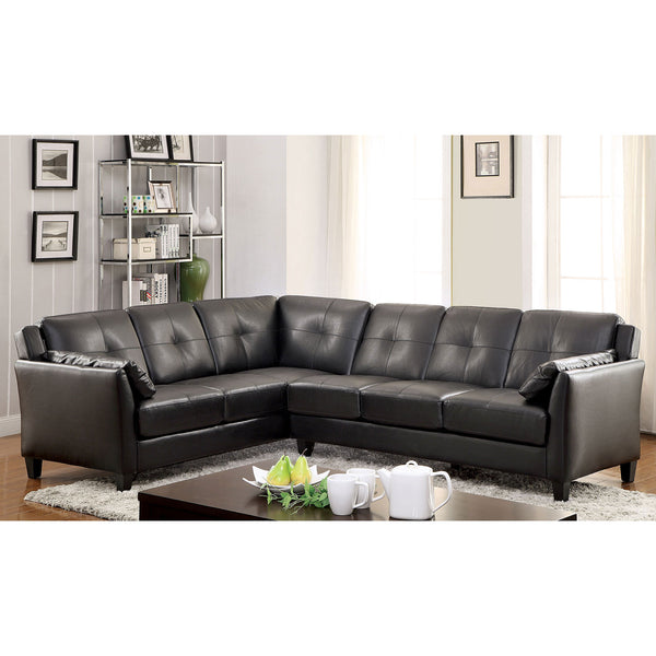 PEEVER Black Sectional, Black (K/D) image