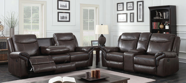 Chenai Brown Sofa + Love Seat image