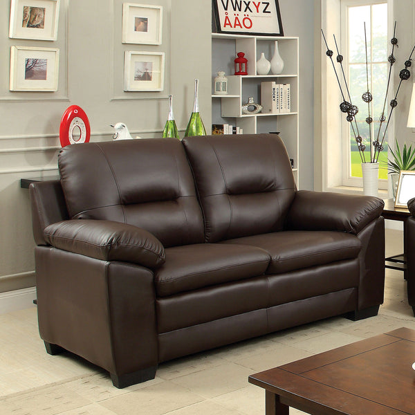 PARMA Brown Love Seat, Brown image