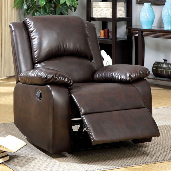 Oxford Rustic Dark Brown Recliner image