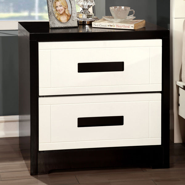 Rutger White/Black Night Stand image