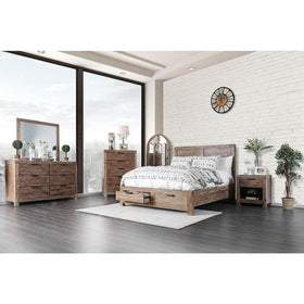 Wynton Weathered Light Oak 5 Pc. Queen Bedroom Set w/ 2NS