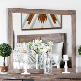 Wynton Weathered Light Oak Mirror
