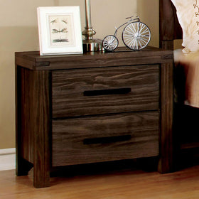 Rexburg Wire-Brushed Rustic Brown Night Stand