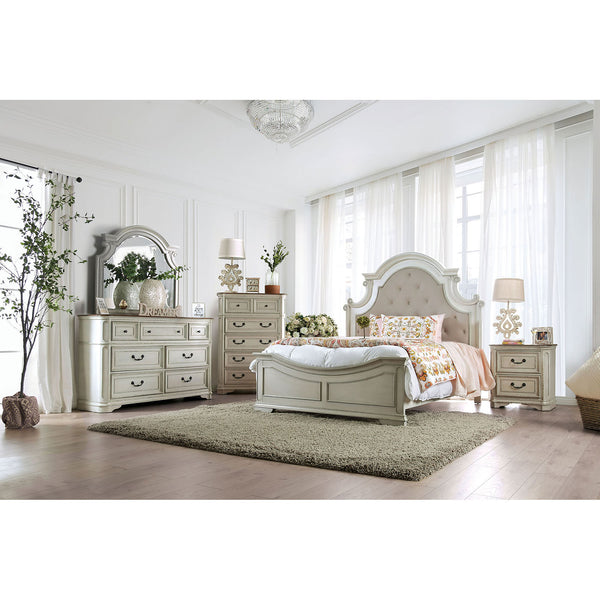 Pembroke Antique Whitewash 5 Pc. Queen Bedroom Set w/ 2NS image