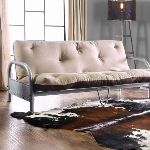 Aksel Black/Red Futon Mattress, Khaki & Brown image