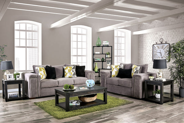 Bradford Warm Gray Sofa + Love Seat image