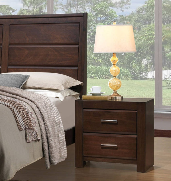 Acme Oberreit 2 Drawer Nightstand in Walnut 25793 image