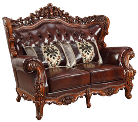 Acme Furniture Eustoma Loveseat in Cherry and Walnut 53066