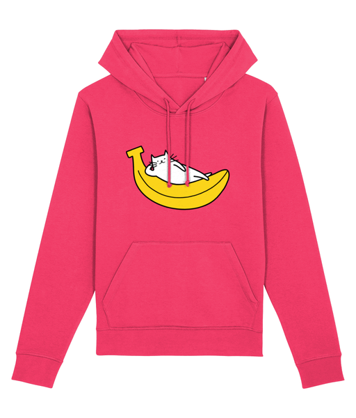 Unisex Organic Cotton Hoodie Banana Cat