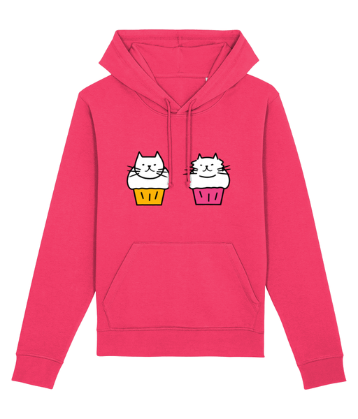 Unisex Organic Cotton Hoodie Cute Cat Muffins