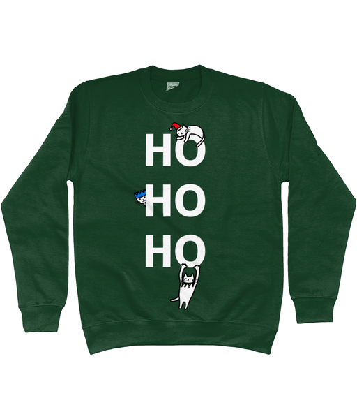 Unisex Christmas Jumper Ho Ho Ho Cats