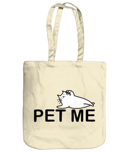 Organic Cotton Tote Bag Cat Pet Me