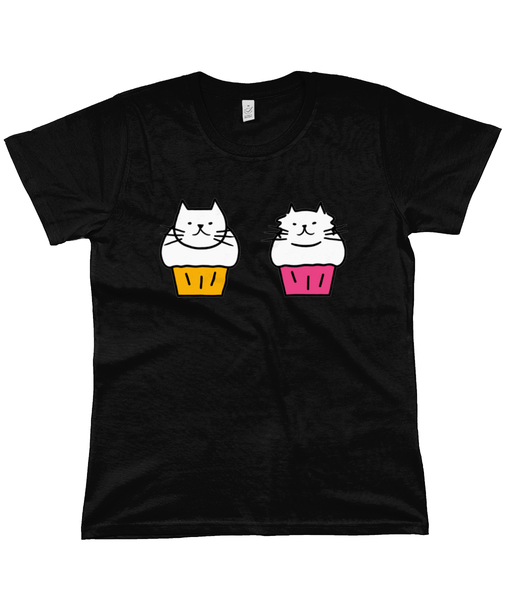 Organic Cotton Women's T-Shirt Cat Muffins