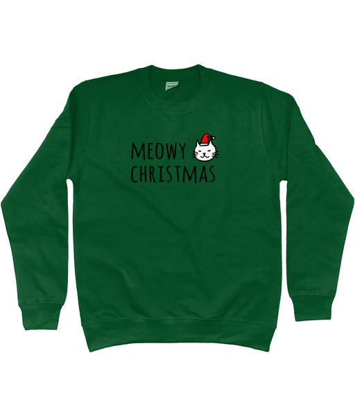 Unisex Christmas Jumper Meowy Christmas Cat