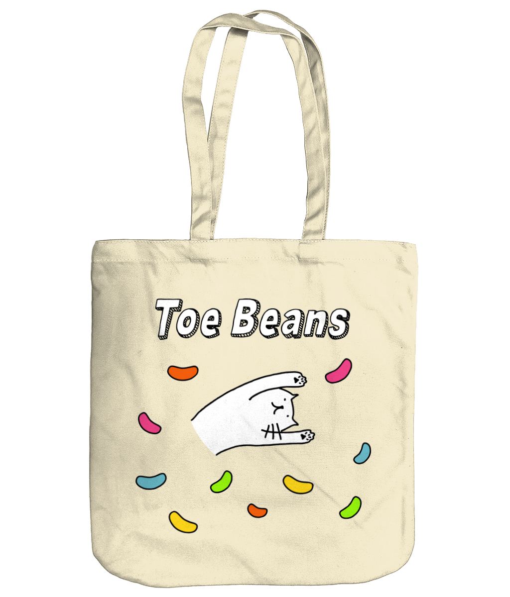 Organic Cotton Tote Bag Cat Toe Beans
