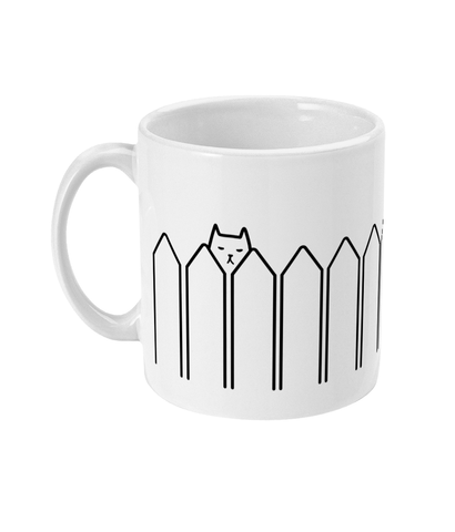 11oz Ceramic Mug Cute Nosy Cat