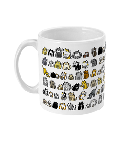 11oz Ceramic Mug Cute Cats