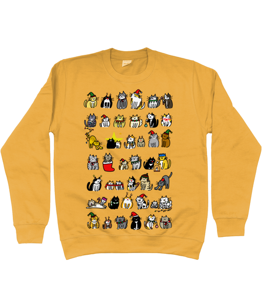 Unisex Christmas Jumper Cute Christmas Cats