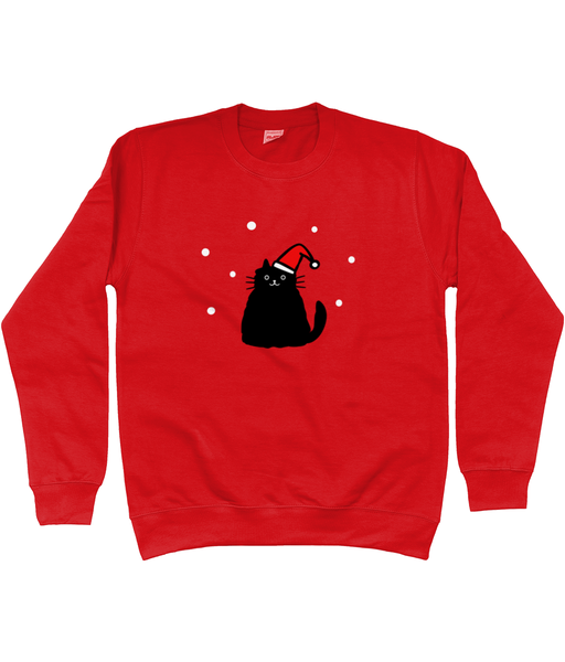 Unisex Christmas Jumper Christmas Chubby Cat