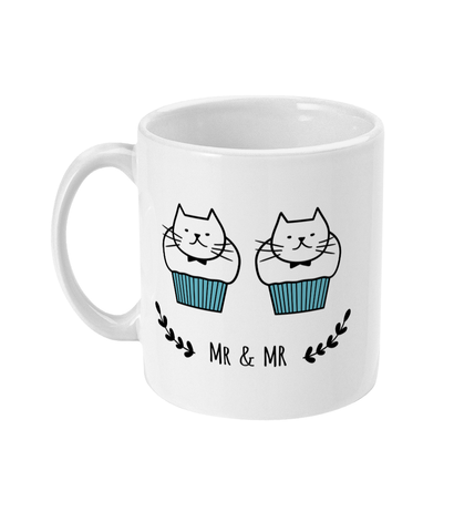 11oz Ceramic Mug Mr and Mr Cat Muffins