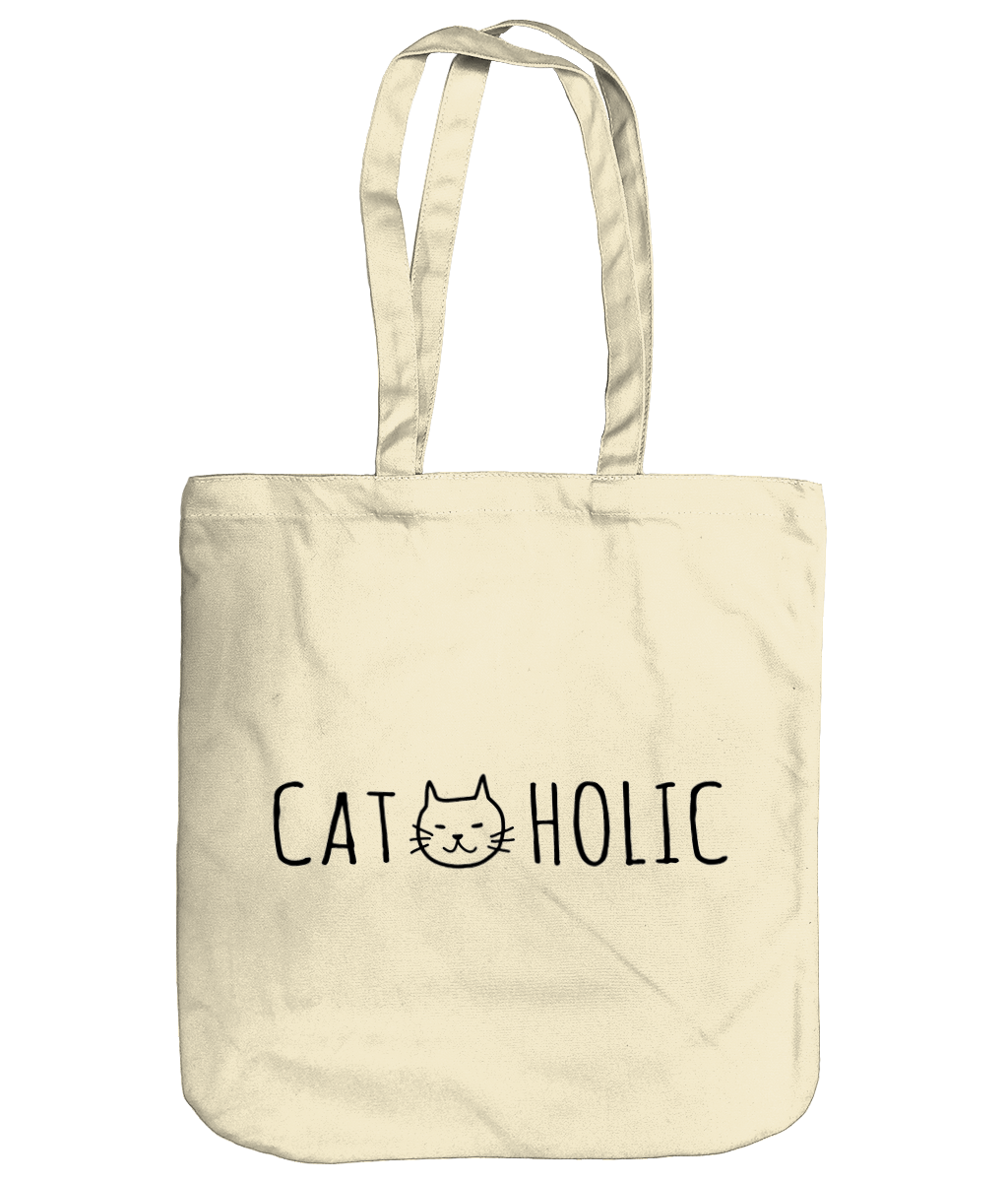 Organic Cotton Tote Bag Cat-holic