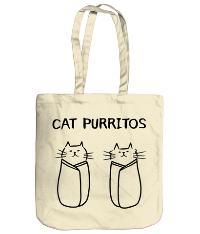 Organic Cotton Tote Bag Cat Purritos