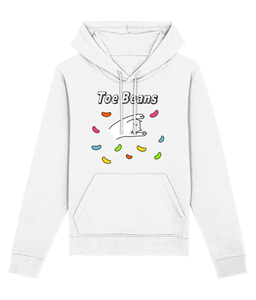 Unisex Organic Cotton Hoodie Cat Toe Beans
