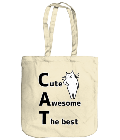 Organic Cotton Tote Bag CAT
