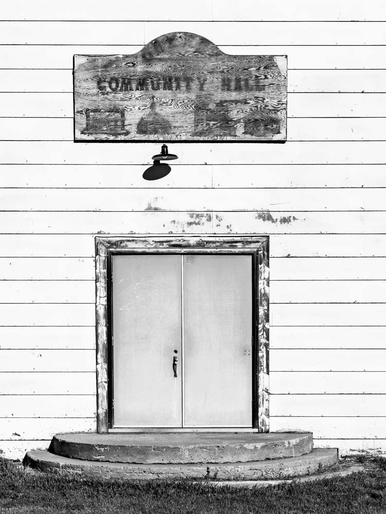 Community Hall Entrance, Red Coat Trail, Saskatchewan 2012