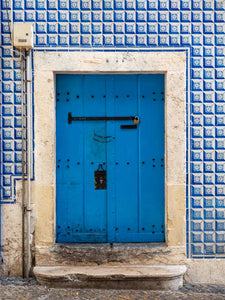 Blue Door & Tile, Lisbon, Portugal